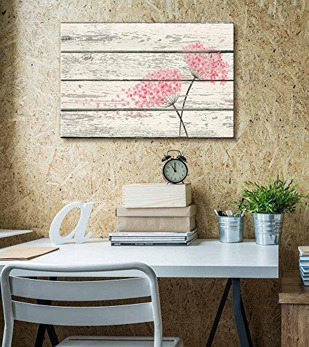 Flowering Pink Blowing in Wind Artworkd Rustic
