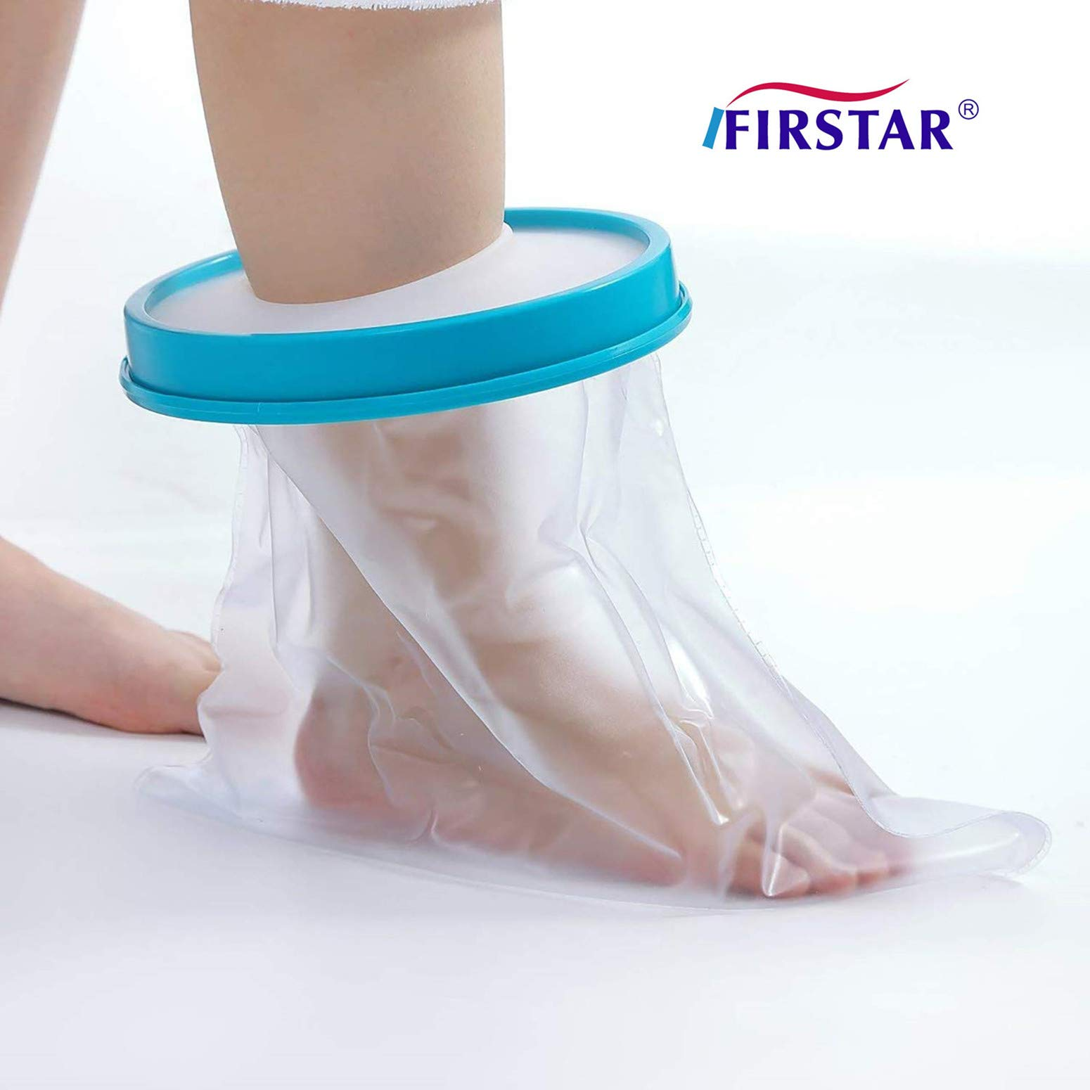 Adult Foot Cast Covers for Shower, Waterproof Shower Bandage and Cast Protector for Shower and Bath Watertight Protection to Broken Surgery Foot Ankle Wound and Burns 100% Reusable (12.9'' 13.5'' 7'') by FIRSTAR