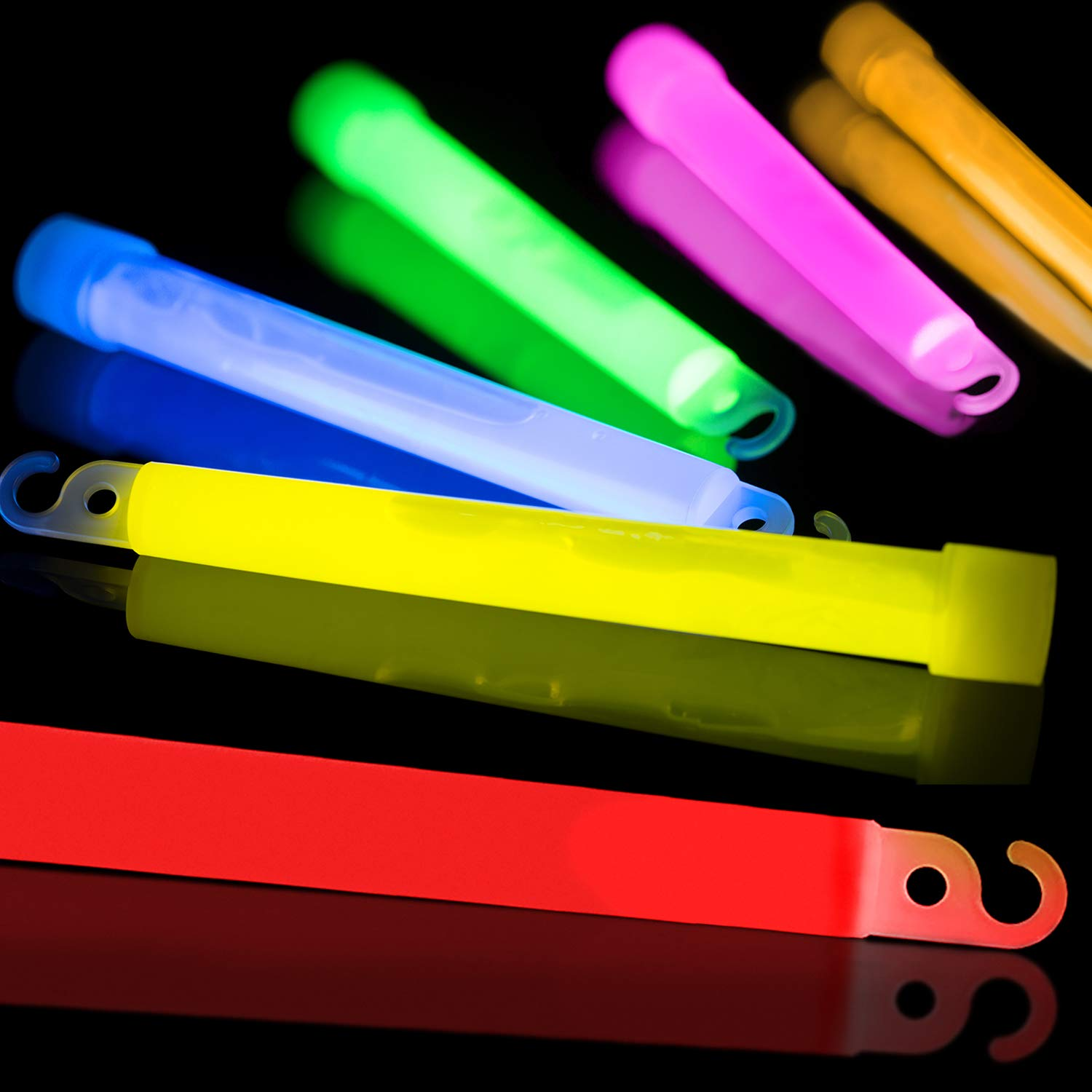 30 Pack Glow Sticks Bulk - Glow in The Dark Party Supplies - Waterproof and Non Toxic Neon Party Light Sticks for Kids and Adults (Multi Color, 30 Pack) by Glow Mind (Image #2)