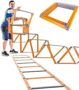 XIONGGG Plegable Escalera De Agilidad, Flexibilidad Escalera De Agilidad De Fútbol Equipo De Ejercicio, para Los Equipos, Atletas, Personas Y Niños: Amazon.es: Deportes y aire libre