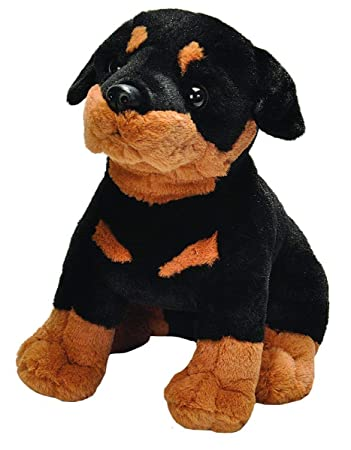 E-Chariot Soft Toys Sitting Rottweiler Plush Stuffed Animal Cuddlekins by Wild Republic (20359) 12 Inches