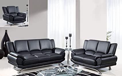 Amazon Com Global Furniture Usa 9908 3 Piece Bonded Leather Living