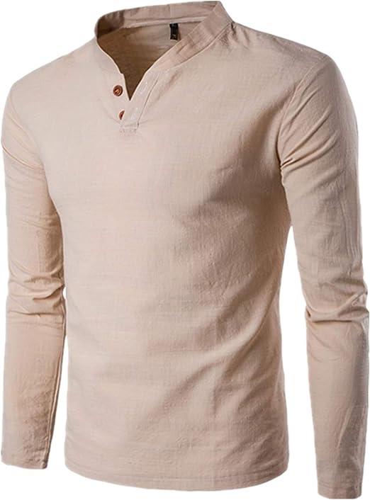 Uomo tratto Polo T-shirt con scollo a V a maniche corte con scollo a V Slim Fit