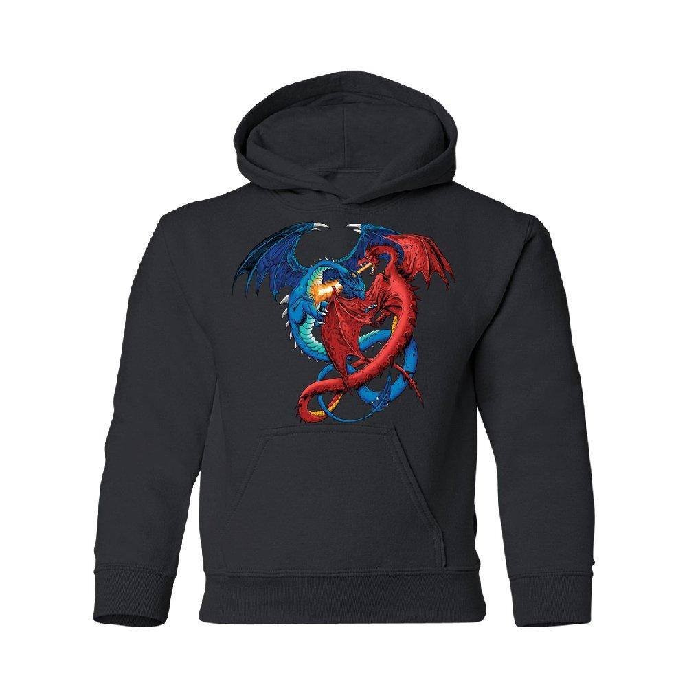 Zexpa Apparel Red & Blue Dragon Portal Avatar Youth Hoodie Brand New Sweatshirt Black Youth Small