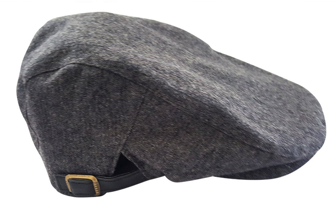 Always Eleven Satin Lined Newsboy Hat with Adjustable Straps (L/XL, 61 cm)(Grey)
