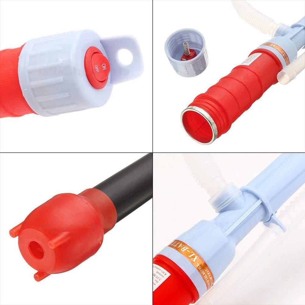 Majome Elektrische Wasserpumpe Fl/üssigkeitstransfer Gas/öl Sicher Siphon Batteriebetriebene Pumpen 62cm