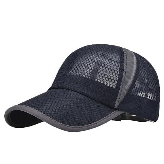 LINNUO Gorra de Béisbol Hombres Mujeres Sombrero de Sol de Mall Ajustable Deportiva Outdoor Hat Running Golf Transpirable ghC8XR