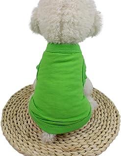 Lomsarsh Cute Pet Dog Cat Solid Color Gilet Vêtements Petit Chiot Costume Coton Pet Pet