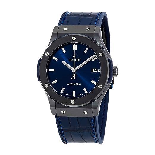 Hublot clásico fusión Cerámica Azul 45 mm Reloj para hombre 511. CM. 7170. LR: Hublot: Amazon.es: Relojes