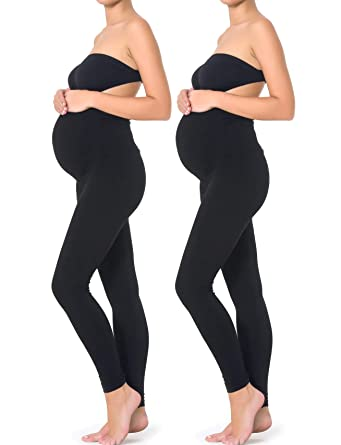 95c9757dd6a4d Mothers Essentials Maternity Pregnant Women Leggings (XS-2PACK, Black)