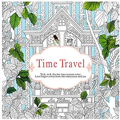 - Time Travel Coloring Books Antistress Art Drawing Painting Secret Garden  Colouring Book With 24 Color Pencil For Adult Children Girls: Buy Online At  Best Price In UAE - Amazon.ae