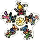 Daisy Shaped Dancing Bears - Dan Morris, Grateful Dead Vinyl Sticker DECAL for Car Bumper Skateboard Laptop Luggage