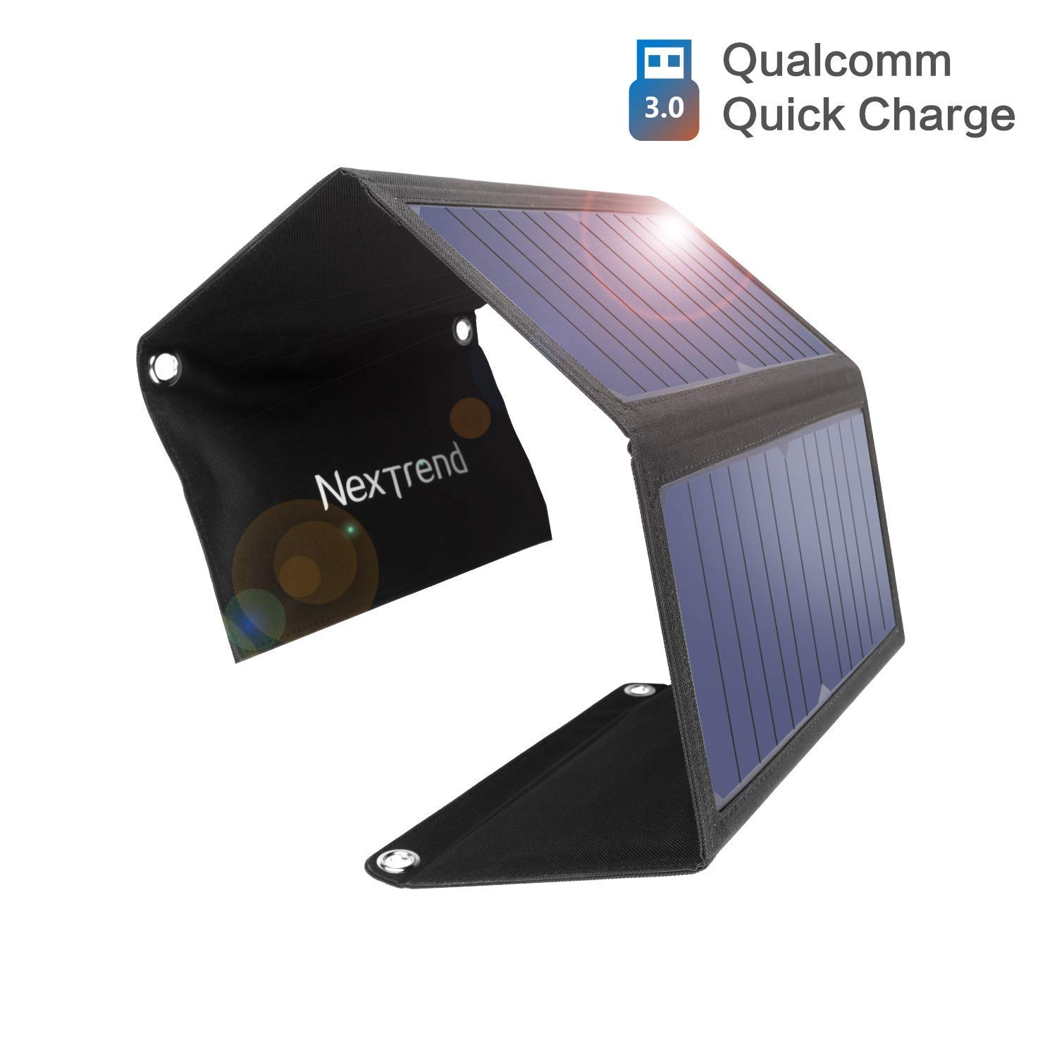 28w Solar Portable Charger, NexTrend 3 Foldable Solar Panels USB 3.0 Solar Charger for iPhone 7 / 6s / Plus, iPad Pro/Air 2 / Mini, Galaxy S7 / S6 / Edge/Plus, Note 5/4, LG, Nexus, HTC and More