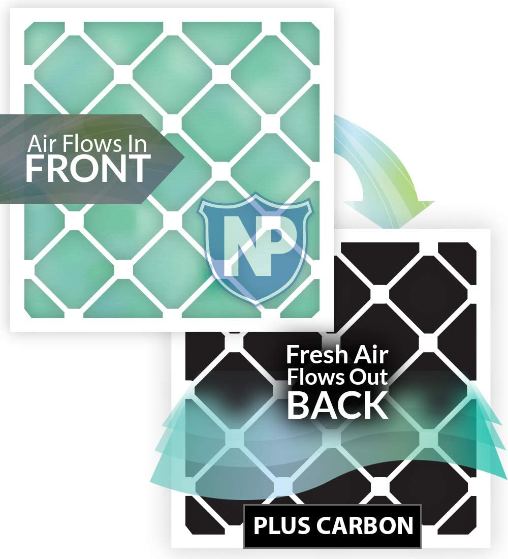 Nordic Pure 14x24x1 MERV 10 Pleated AC Furnace Air Filters 3 Pack