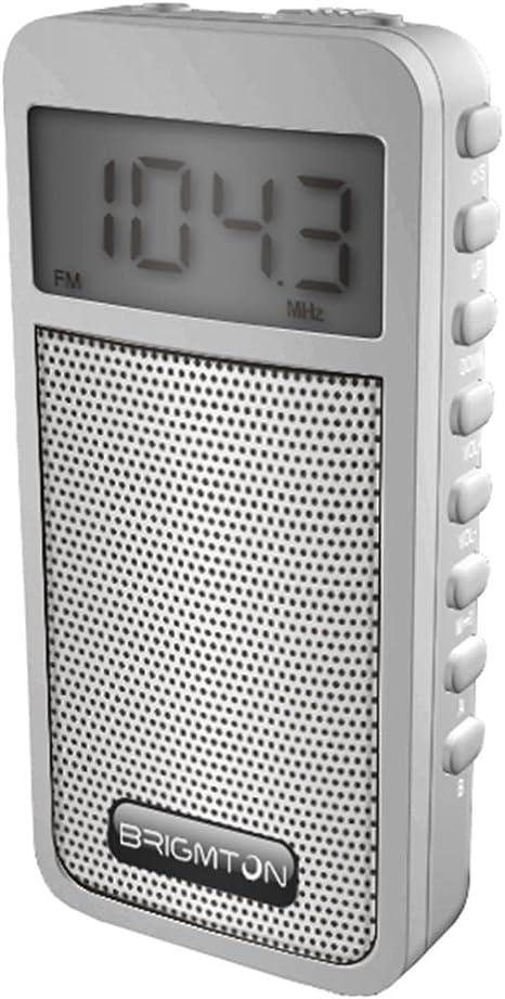 Brigmton BT-126 Portátil Digital Blanco - Radio (Portátil, Digital, Am,FM, 88-108 MHz, 522-1620 kHz, 50 dB): Amazon.es: Electrónica
