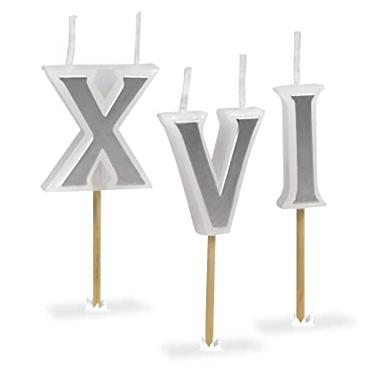 Amazon Fred ROMAN CANDLES Roman Numeral Birthday Candles Set Of 8 Sparkler Kitchen Dining
