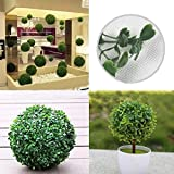 Ochoos Plastic Artificial Topiary Ball Tree Decoration Plant - (Size: 30CM) - Garden Landscaping & Decking - Artificial Plants & Animals