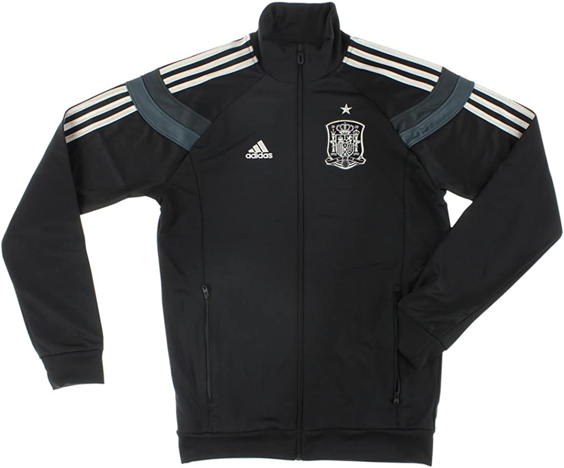 adidas España Himno Chaqueta para Hombre – Negro/Oscuro de Ballena – para Hombre: Amazon.es: Deportes y aire libre