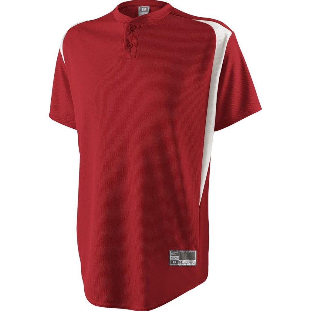 Holloway Youth Razor Jersey (Medium, Scarlet/White) by Holloway