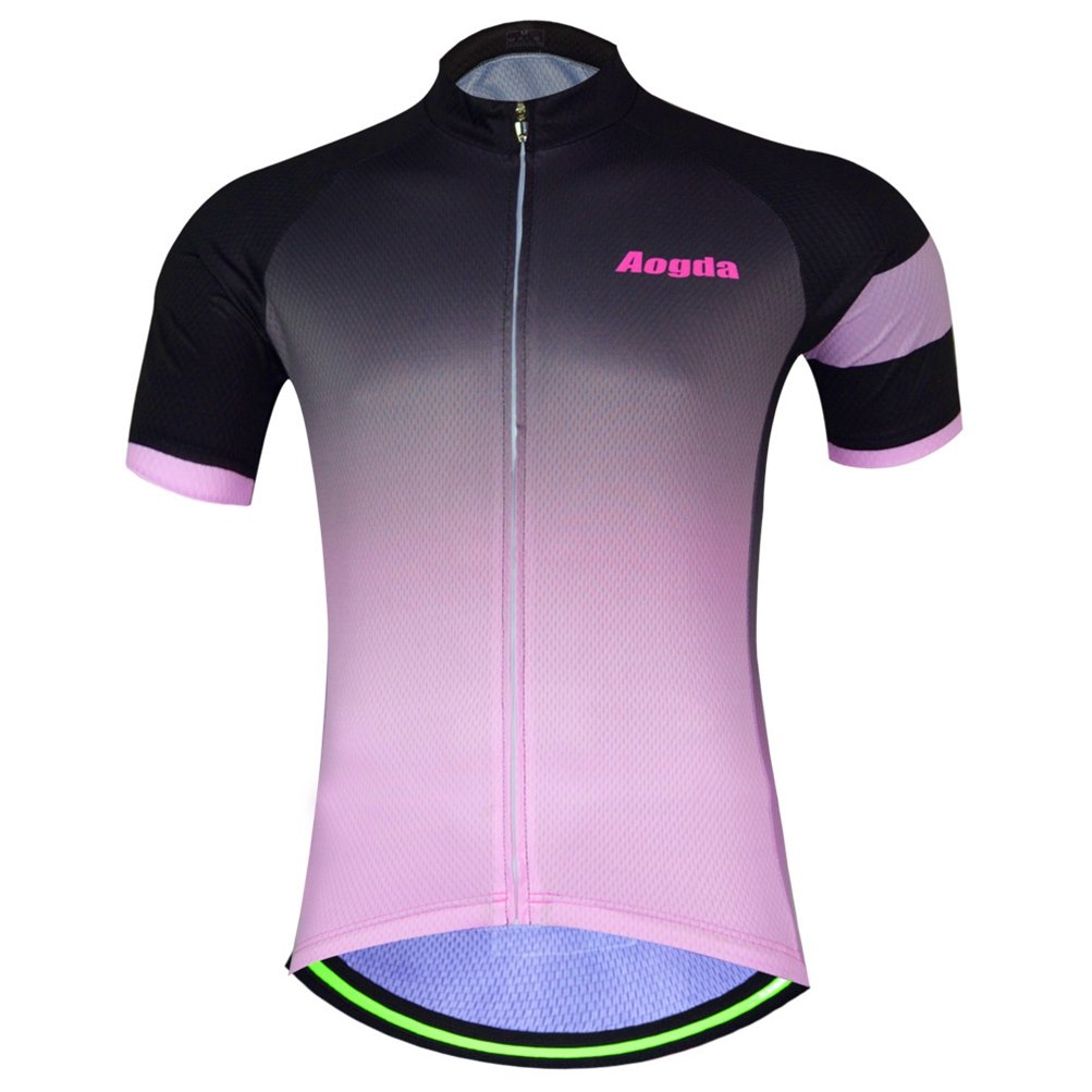 Uriah Women's Cycling Jersey Polyester Short Sleeve Pink Black Size S by Uriah