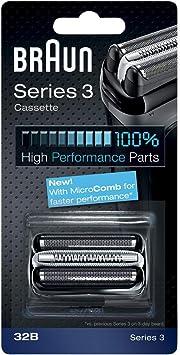 Braun Casette 32 B - Láminas de recambio + portacuchillas para afeitadoras Series 3: 340 - 300): Amazon.es: Salud y cuidado personal