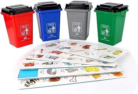fervory Mini Bote De Basura Juguetes Los Botes De Basura De Los Niños para El Camión De La Basura Juegan El Bote De Basura Plástico Mini del Cubo De La Basura del Juguete