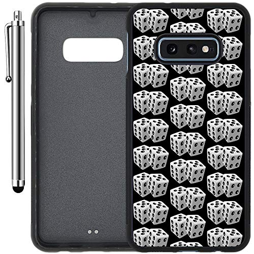 Custom Case Compatible with Galaxy S10e (5.8 inch) (Dice Gamble Pattern) Edge-to-Edge Rubber Black Cover Ultra Slim | Lightweight | Includes Stylus Pen by Innosub
