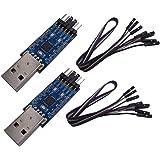 DSD TECH 2PCS Adattatore seriale da USB a TTL con chip CP2102 Compatibile con Windows 7,8,10, linux, Mac OS X