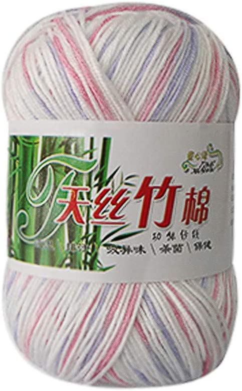 1Skein X 50g Baby Natural Smooth Soft Bamboo Cotton Knitting Yarn Knitwear 18