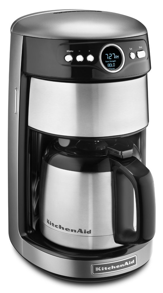 KitchenAid KCM1203CU 12-Cup Thermal Carafe Coffee Maker - Contour Silver