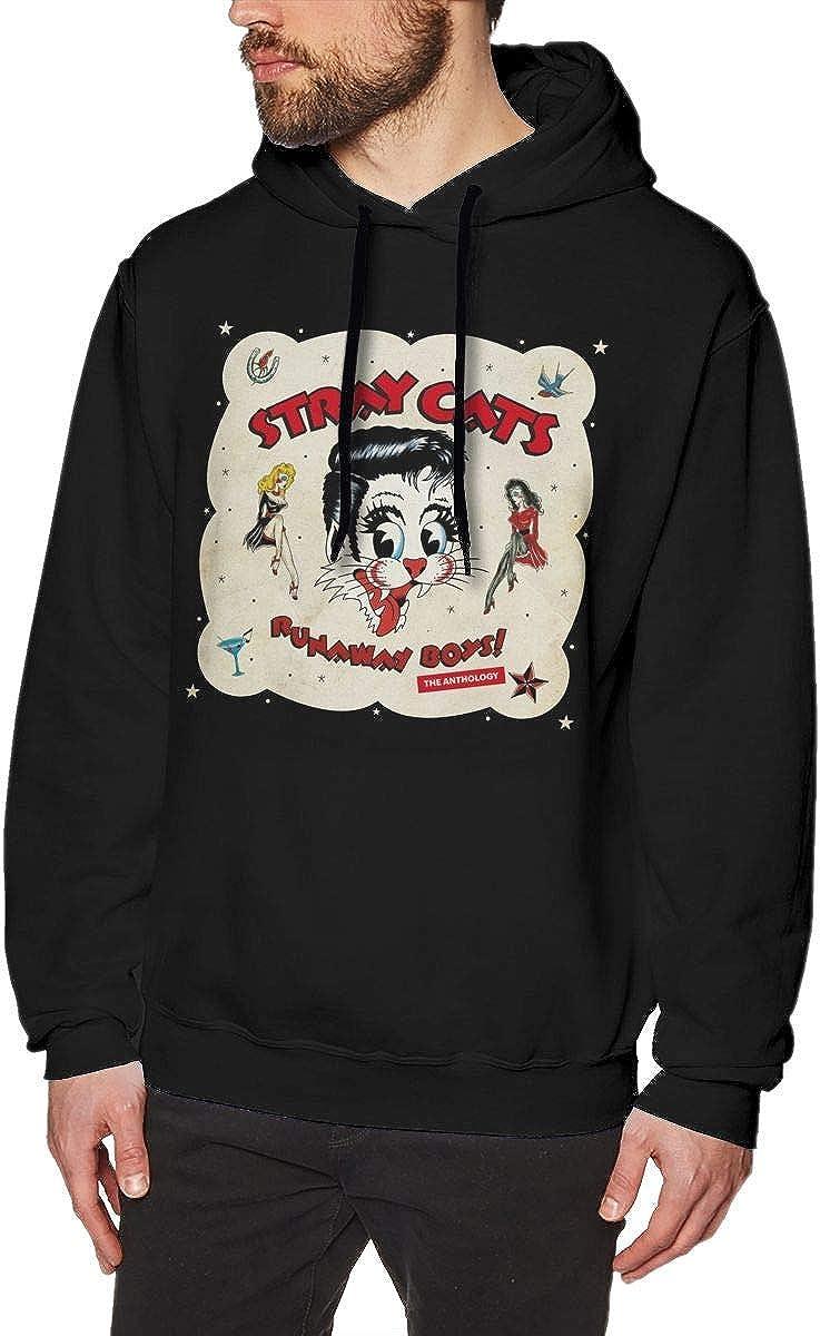 Digitalighter Stray Cats Durable Mens Hoodie Sweatshirt ...