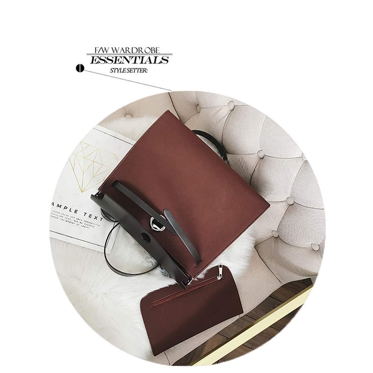 Mode einfache Kontrastfarbe Kelly Bag Hand Schulter Diagonale Kreuz Paket Trend weiblichen Beutel zweiteilig Gr/ün, 40.5 * 14 * 25cm