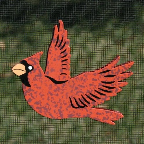 Red Cardinal Refrigerator Bird Magnets or Patio Door Screen Saver - 1 Set