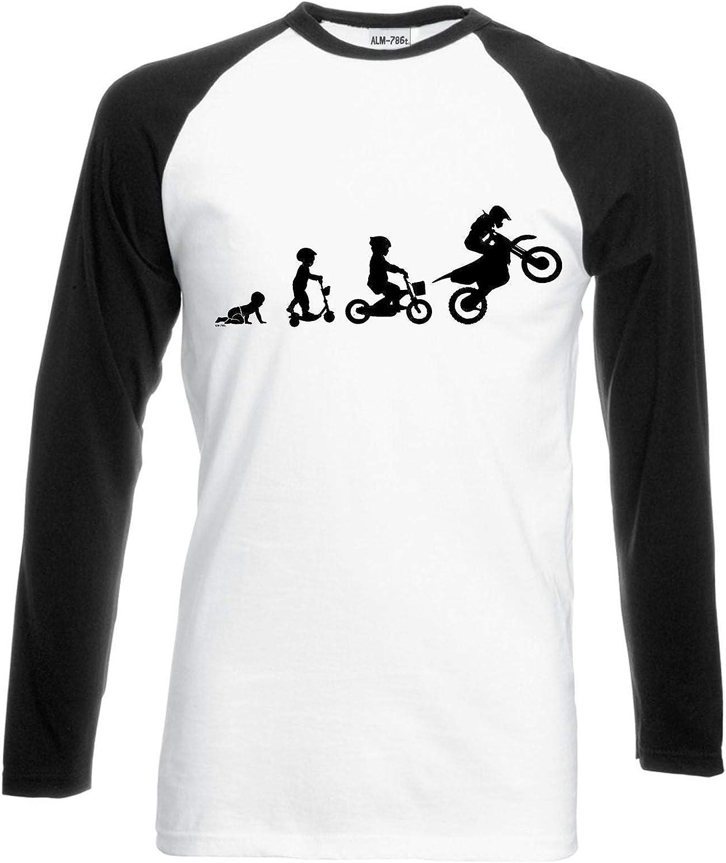 Motorbike Evolution Mens Funny Superbike T-Shirt Motorcycle Sports Bike Biker