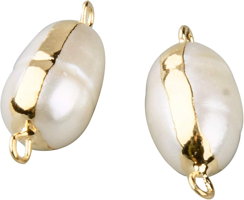 PandaHall Conectores de perlas de agua dulce naturales