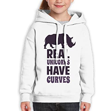 06aec3b7b76 Image Unavailable. Image not available for. Color  Newfood Ss Real Unicorns  Have Curves Teenager Pullover Hoodie ...