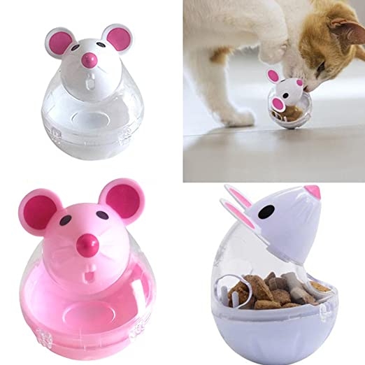 Amazon.com : Best Quality New pet Puppy Leak Food Ball cat Feeder Toy Home palstic Cute Mouse Shape Toys : Pet Supplies
