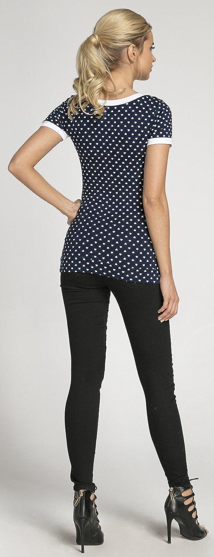 Noeud 996p Happy Mama Femme T-Shirt de maternit/é Allaitement Double Couches