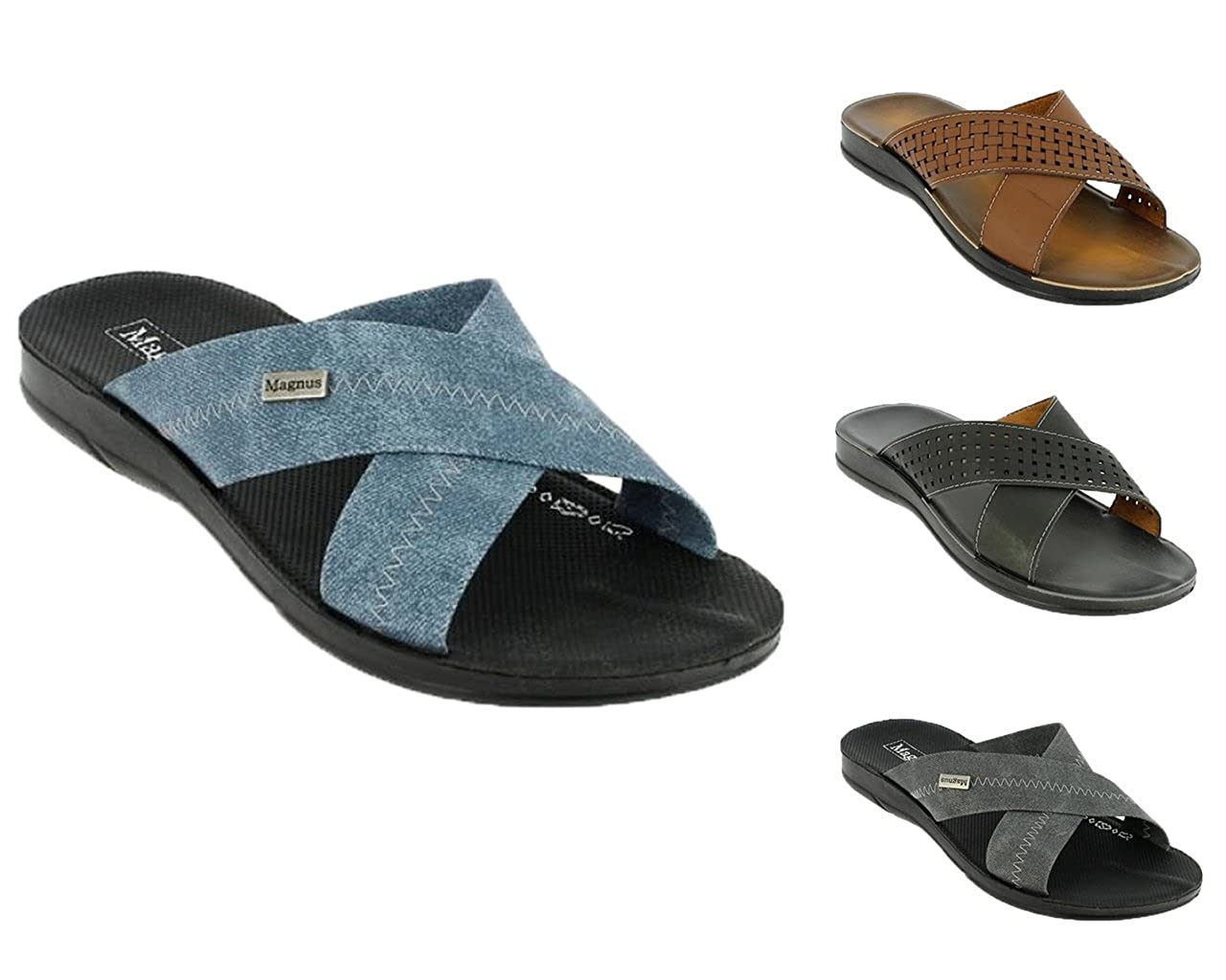 bd91fe03f466 Herren Pantoletten Classic Hausschuhe Sandalen Schlappen Latschen Freizeit  Arbeit Komfort Schuhe   BA640120  Amazon.de  Schuhe   Handtaschen