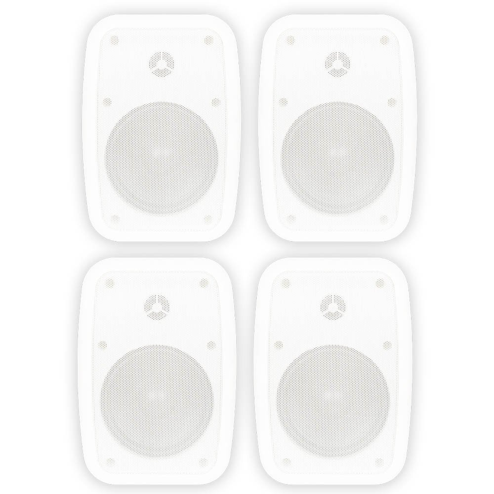 Theater Solutions TS525ODW Indoor or Outdoor Speakers Weatherproof Mountable White 2 Pair Pack by Theater Solutions