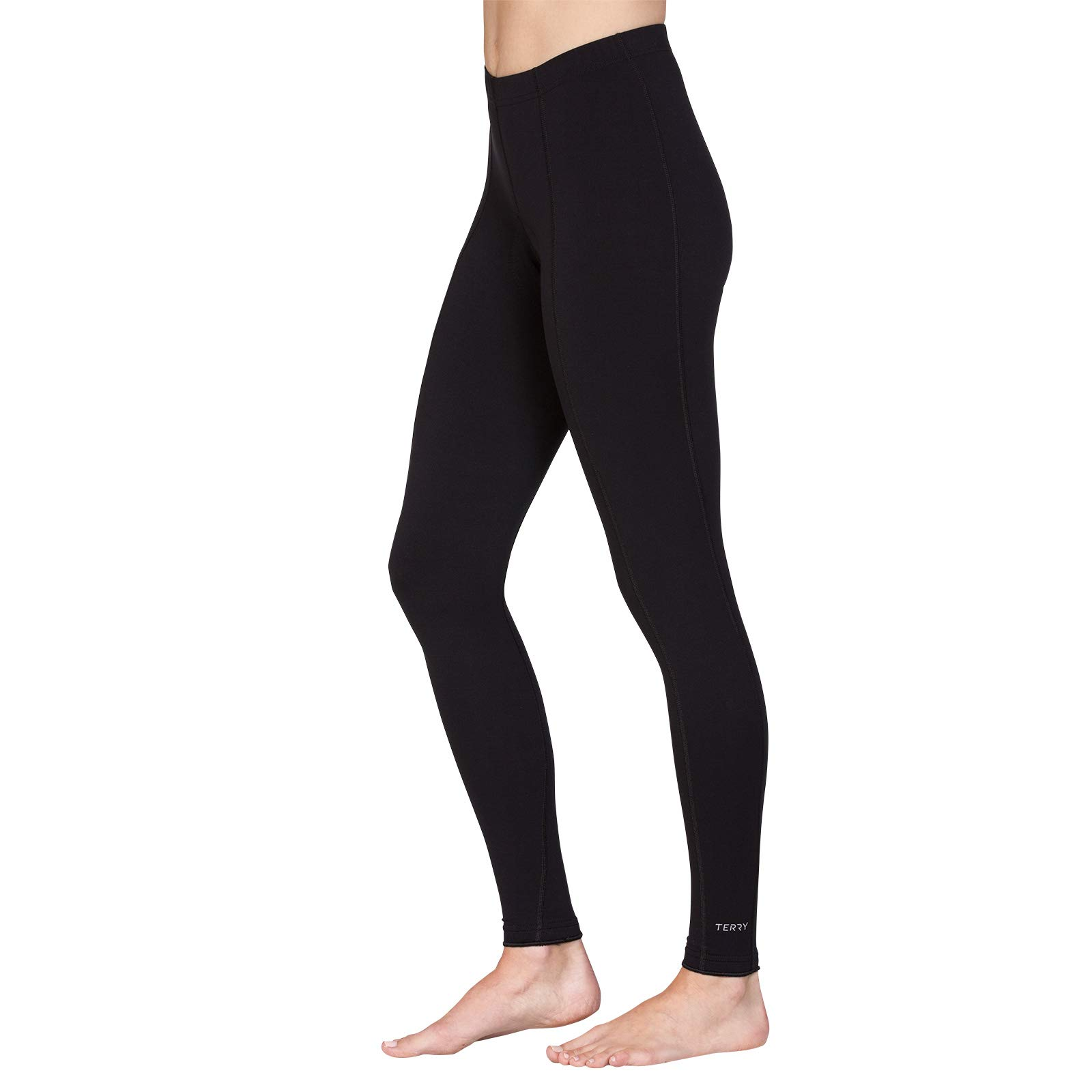 Terry Coolweather Cycling Tights for Women - Plus - Full Length - 29 inch Inseam - Black - 1X by Terry