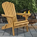 Patio Chairs, Swings & Benches NEW Natural Outdoor Wood Adirondack Chair Foldable Patio Lawn Deck Garden Furniture