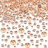 4000 Pieces Table Confetti 3 Sizes Wedding Crystals Acrylic Diamonds Rhinestones Vase Fillers for Birthday Baby Shower Party Tables (Rose Gold)