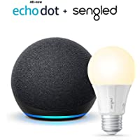 Amazon All-new Echo Dot (4th Gen) Smart Speaker + Sengled Smart Light Bulb