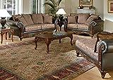 Acme 50335 Fairfax Chocolate, Raisin & PU Sofa Set