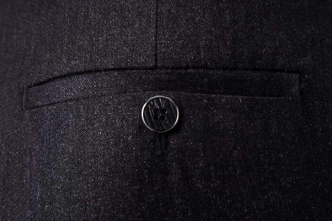 ARTFFEL Mens Two Piece Casual Business 2 Button Blazers Jacket Pants Suits Set