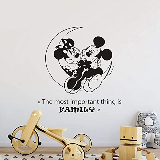Pegatina De Pared Frases Mickey Minnie Mouse Wall Art Decal