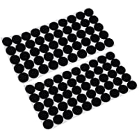 HOMYL 100 Pieces Multifunction Black Self Adhesive Furniture Leg Table Chair Sofa Feet Floor Non-Slip Mat Sticky Pad Rubber Floor Protector Pads Anti-Skid Scratch