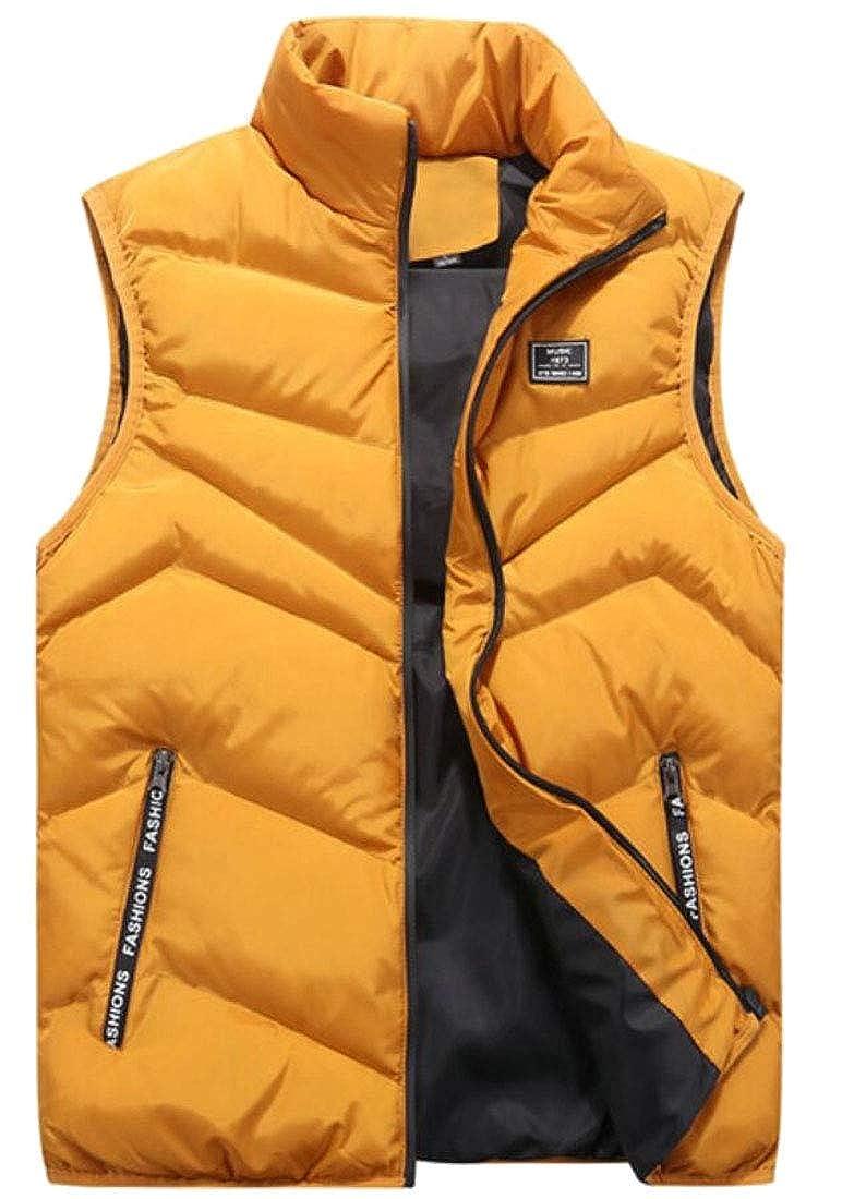 omniscient Mens Outdoor Casual Stand Collar Vest Coats