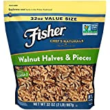 FISHER Chef's Naturals Walnut Halves & Pieces, 32 Ounce